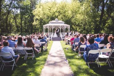 Wedding venue outdoor ceremony gazebo